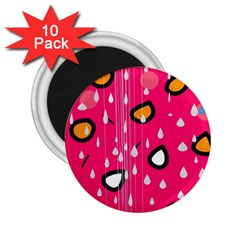 Rainy day - pink 2.25  Magnets (10 pack)