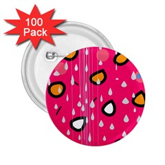 Rainy day - pink 2.25  Buttons (100 pack)