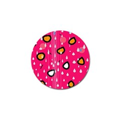 Rainy day - pink Golf Ball Marker