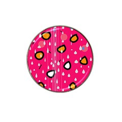 Rainy day - pink Hat Clip Ball Marker (10 pack)