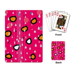 Rainy day - pink Playing Card