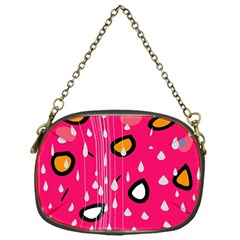 Rainy day - pink Chain Purses (One Side)
