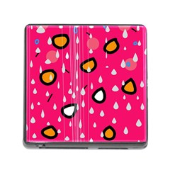 Rainy day - pink Memory Card Reader (Square)