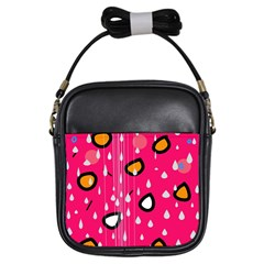 Rainy day - pink Girls Sling Bags
