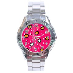 Rainy day - pink Stainless Steel Analogue Watch