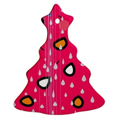 Rainy day - pink Christmas Tree Ornament (2 Sides)