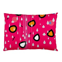 Rainy day - pink Pillow Case (Two Sides)
