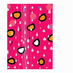 Rainy day - pink Small Garden Flag (Two Sides)