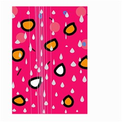 Rainy day - pink Large Garden Flag (Two Sides)