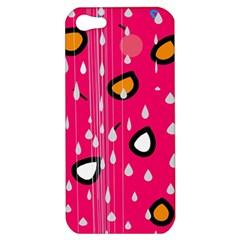 Rainy day - pink Apple iPhone 5 Hardshell Case