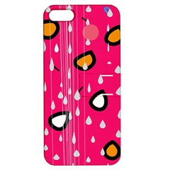 Rainy day - pink Apple iPhone 5 Hardshell Case with Stand