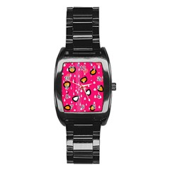 Rainy day - pink Stainless Steel Barrel Watch