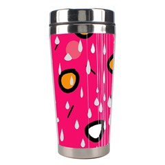 Rainy day - pink Stainless Steel Travel Tumblers