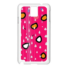 Rainy day - pink Samsung Galaxy Note 3 N9005 Case (White)