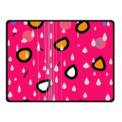 Rainy day - pink Double Sided Fleece Blanket (Small)