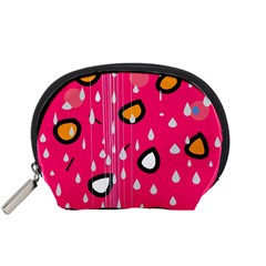 Rainy day - pink Accessory Pouches (Small)