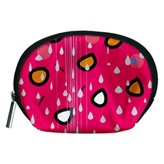 Rainy day - pink Accessory Pouches (Medium)