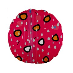 Rainy day - pink Standard 15  Premium Flano Round Cushions