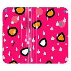 Rainy day - pink Double Sided Flano Blanket (Small)
