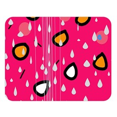 Rainy day - pink Double Sided Flano Blanket (Large)