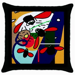 Fly, fly Throw Pillow Case (Black)