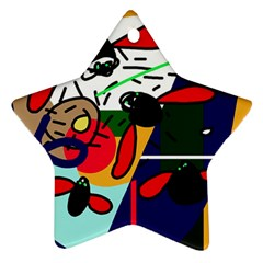 Fly, fly Star Ornament (Two Sides)