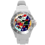 Fly, fly Round Plastic Sport Watch (L) Front