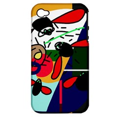 Fly, fly Apple iPhone 4/4S Hardshell Case (PC+Silicone)