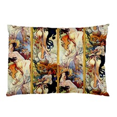 Alfons Mucha 1895 The Four Seasons Pillow Case