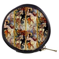 Alfons Mucha 1895 The Four Seasons Mini Makeup Bags