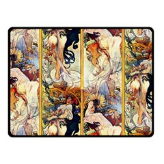 Alfons Mucha 1895 The Four Seasons Fleece Blanket (Small)