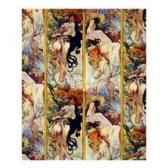 Alfons Mucha 1895 The Four Seasons Shower Curtain 60  x 72  (Medium)