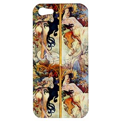 Alfons Mucha 1895 The Four Seasons Apple iPhone 5 Hardshell Case