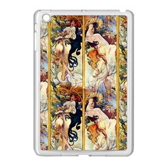 Alfons Mucha 1895 The Four Seasons Apple iPad Mini Case (White)