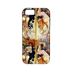 Alfons Mucha 1895 The Four Seasons Apple iPhone 5 Classic Hardshell Case (PC+Silicone)