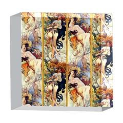 Alfons Mucha 1895 The Four Seasons 5  x 5  Acrylic Photo Blocks