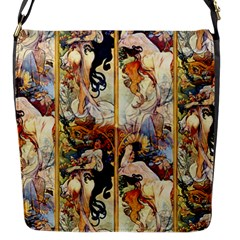 Alfons Mucha 1895 The Four Seasons Flap Messenger Bag (S)