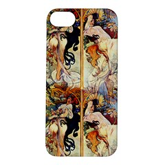 Alfons Mucha 1895 The Four Seasons Apple iPhone 5S/ SE Hardshell Case