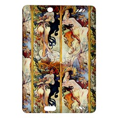Alfons Mucha 1895 The Four Seasons Amazon Kindle Fire HD (2013) Hardshell Case