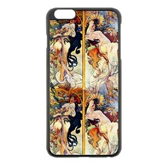 Alfons Mucha 1895 The Four Seasons Apple iPhone 6 Plus/6S Plus Black Enamel Case