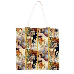 Alfons Mucha 1895 The Four Seasons Grocery Light Tote Bag