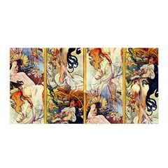 Alfons Mucha 1895 The Four Seasons Satin Wrap