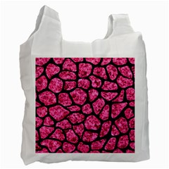 SKN1 BK-PK MARBLE Recycle Bag (Two Side)