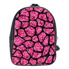 SKN1 BK-PK MARBLE School Bags(Large)