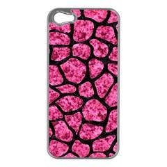 SKN1 BK-PK MARBLE Apple iPhone 5 Case (Silver)