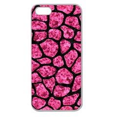 SKN1 BK-PK MARBLE Apple Seamless iPhone 5 Case (Clear)