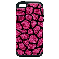 SKN1 BK-PK MARBLE Apple iPhone 5 Hardshell Case (PC+Silicone)