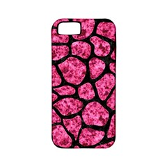 SKN1 BK-PK MARBLE Apple iPhone 5 Classic Hardshell Case (PC+Silicone)
