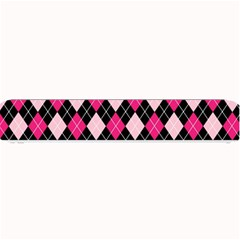 Argyle Pattern Pink Black Small Bar Mats