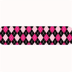 Argyle Pattern Pink Black Large Bar Mats